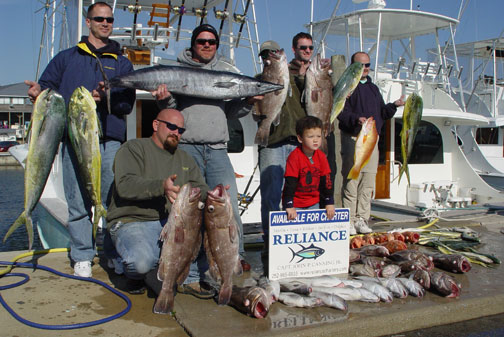 Hatteras nc fishing charters on the reliance for Fishing season nc
